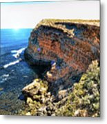 Limestone Cliff Metal Print