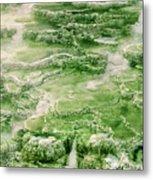 Limestone Detail Minerva Springs Yellowstone National Park Metal Print