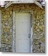 Limestone House Door Metal Print