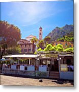 Limone Sul Garda Square And Church View Metal Print