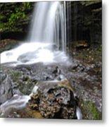 Lin Camp Branch Waterfall Monongahela National Forest Metal Print