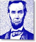 Lincoln Abstract Blue Metal Print