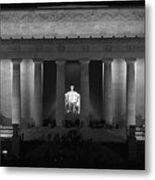 Lincoln At Night Bw Metal Print