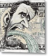 Lincoln Barfs Metal Print
