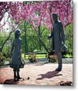 Lincoln-bedell Statue Westfield  Metal Print
