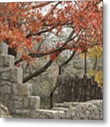 Lincoln Bridge In Fall Metal Print