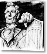 Lincoln Carved Metal Print