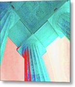 Lincoln Column Blue Metal Print