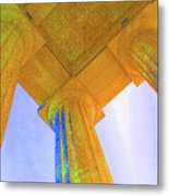 Lincoln Column Yellow Metal Print