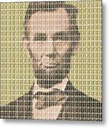 Lincoln - Gold Metal Print