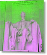 Lincoln In Green Metal Print