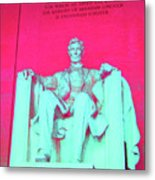 Lincoln In Red Metal Print