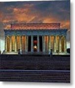 Lincoln Memorial At Dusk Metal Print