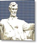 Lincoln Memorial - Dark Blue Metal Print