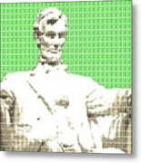 Lincoln Memorial - Green Metal Print