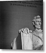 Lincoln Memorial In Washington Dc President Metal Print