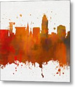 Lincoln Nebraska Colorful Skyline Metal Print
