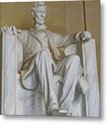 Lincoln Statue Metal Print