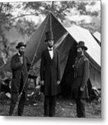 Lincoln With Allan Pinkerton - Battle Of Antietam - 1862 Metal Print