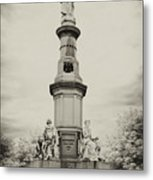 Lincolns Gettysburg Address Site - Toned Metal Print
