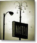 Lincolnwood Motel District Metal Print