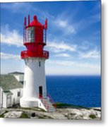 Lindesnes Lighthouse - Norway's Oldest Metal Print