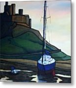 Lindisfarne At Low Tide. Metal Print