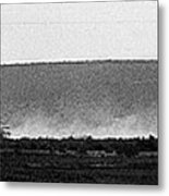 Line Of Tanks Army Reservists Summer Camp Exercise Death Valley  Ca 1968 Metal Print