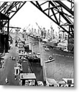 Line Of Victory Ships Metal Print