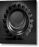 Line Up Black And White Metal Print