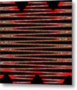 Linear Lesson In Black And Red Metal Print