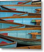 Lined Up And Waiting Metal Print