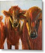 Lined Up For Supper Metal Print