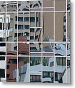 Lines And Bendy Windows Metal Print