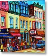 Lineup For Smoked Meat Sandwiches Metal Print