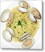 Linguine With Clams Metal Print