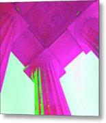 Linocln Column Pink Metal Print