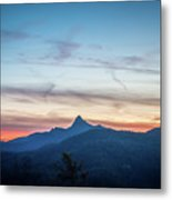 Linville Gorge Wilderness Mountains At Sunset Metal Print