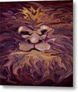Lion Abstract Metal Print