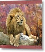 Lion And The Lamb Metal Print