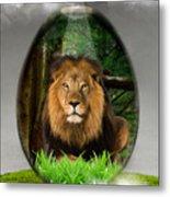 Lion Art Metal Print