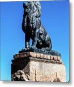 Lion At San Xavier Mission - Tucson Arizona Metal Print