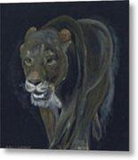 Lion Female Metal Print