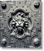 Lion Head Door Knocker Metal Print by Adam Romanowicz