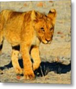 Lion - Id 16235-220310-4716 Metal Print