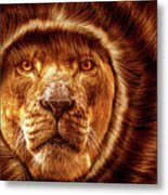 Lion Lady   -1 Metal Print