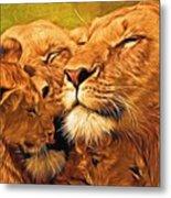 Lion Love #2 Metal Print