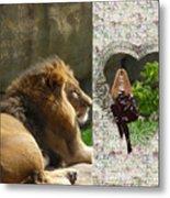 Lion Love Metal Print