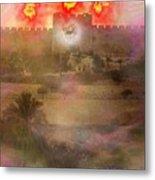 Lion Of Judah At The Gate He Is Coming Metal Print