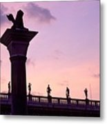 Lion Of Veniceagainst Evening Sky Metal Print
